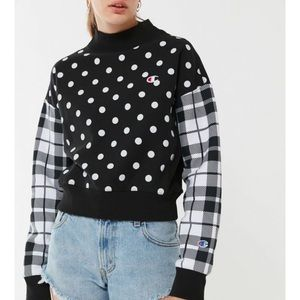 Champion Mixed Print Mock Neck Sweatshirt